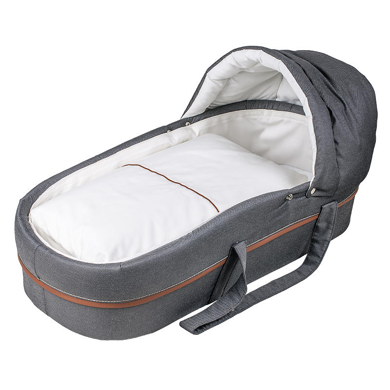 Pram with removable lightweight carrycot.